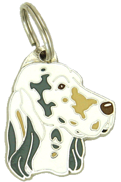 ENGLISH SETTER LEMON BELTON AND GREY - pet ID tag, dog ID tags, pet tags, personalized pet tags MjavHov - engraved pet tags online